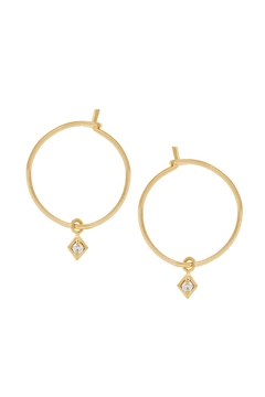 Five and Two Cz Dangle Hoops - Alternate List Image