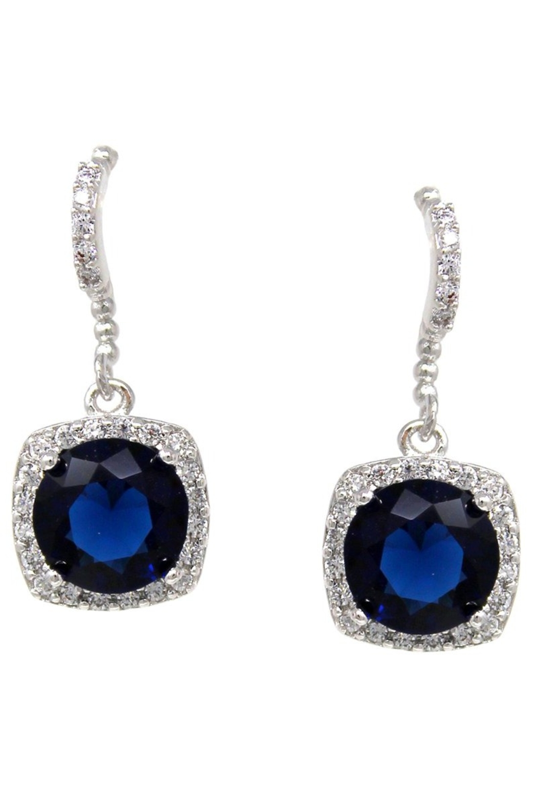 US Jewelry House CZ Drop Earrings - Front Cropped Image
