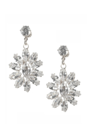 Mimi's Gift Gallery CZ Flower Dangles - Front cropped