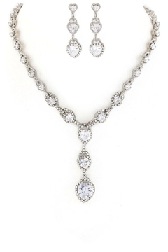 Shoptiques Product: Cz Hearts Necklace-Set