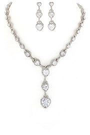 Nadya's Closet Cz Hearts Necklace-Set - Product Mini Image