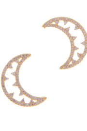 NAKAMOL CHICAGO CZ Moon Earrings - Product Mini Image