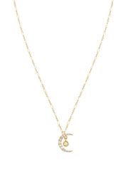 Five and Two Cz Moon Necklace - Product Mini Image
