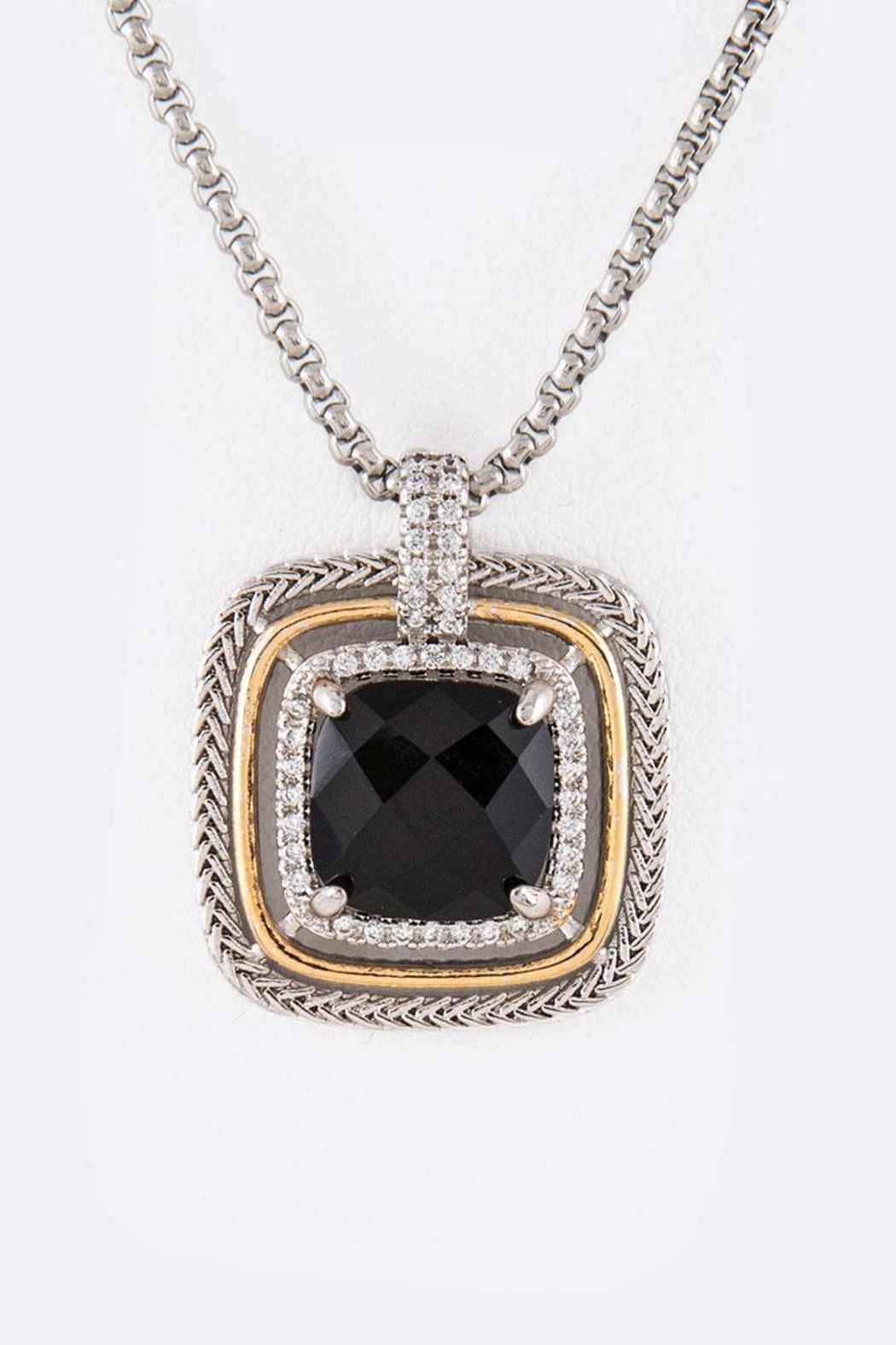 Nadya's Closet Cz Square-Pendant Necklace - Main Image