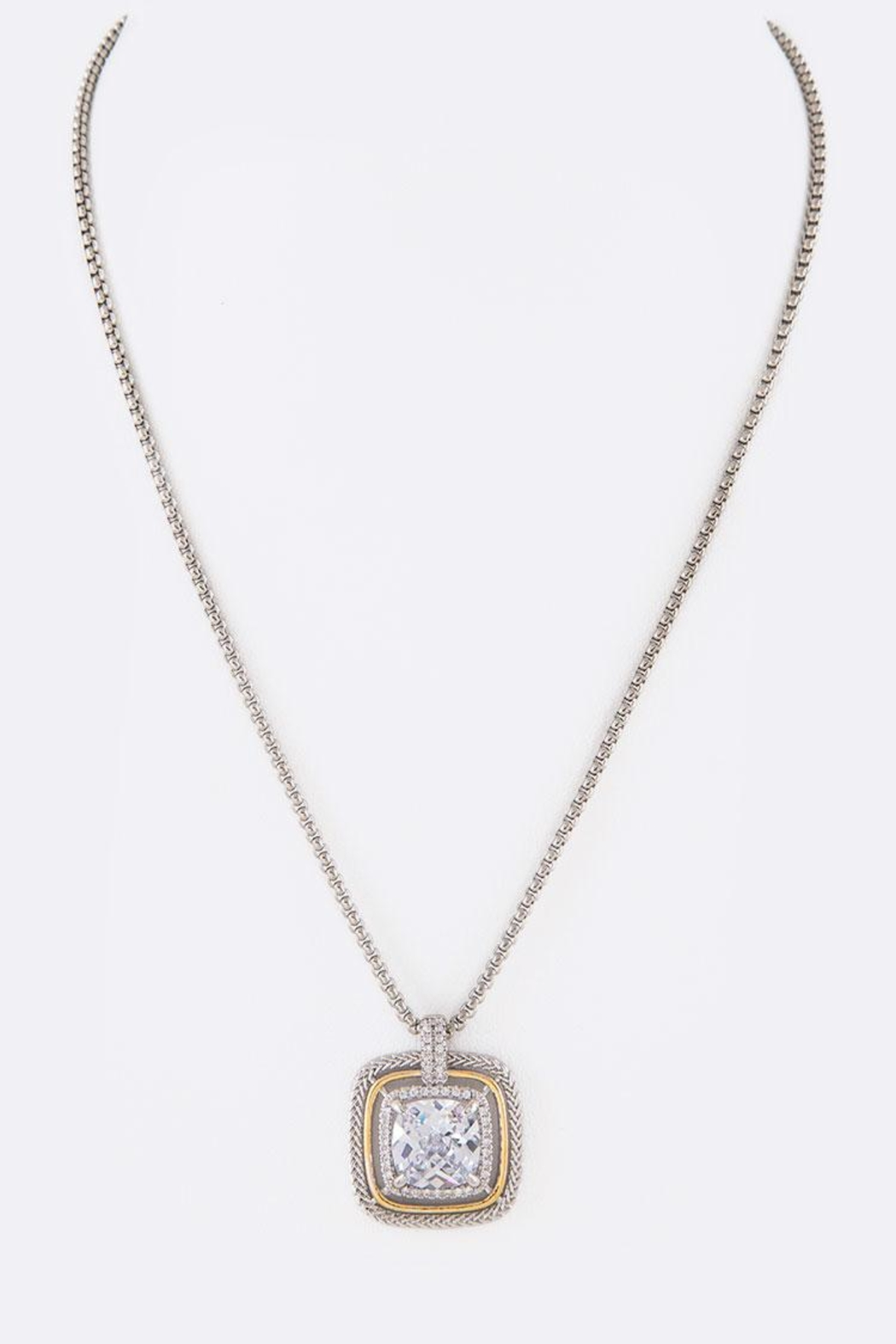 Nadya's Closet Cz Square-Pendant Necklace - Front Full Image