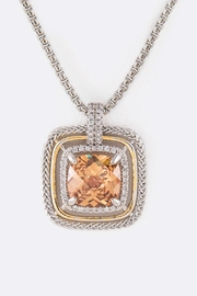Nadya's Closet Cz Square-Pendant Necklace - Front cropped