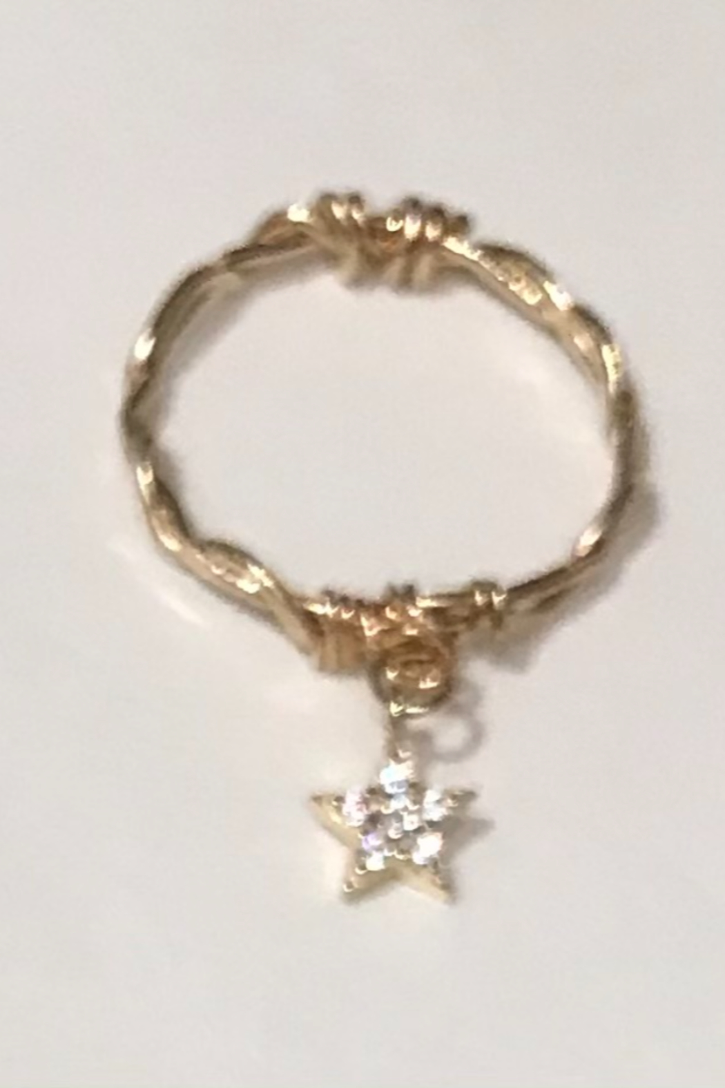 L & A Visionary Creations jewelry CZ Star Charm Ring - Front Full Image