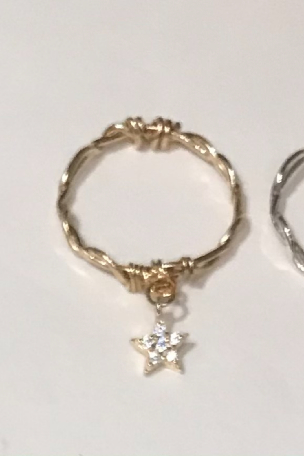 L & A Visionary Creations jewelry CZ Star Charm Ring - Front Cropped Image