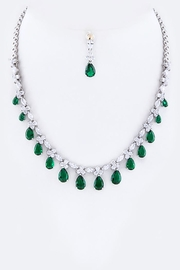 Nadya's Closet Cz Teardrops Necklace-Set - Product Mini Image