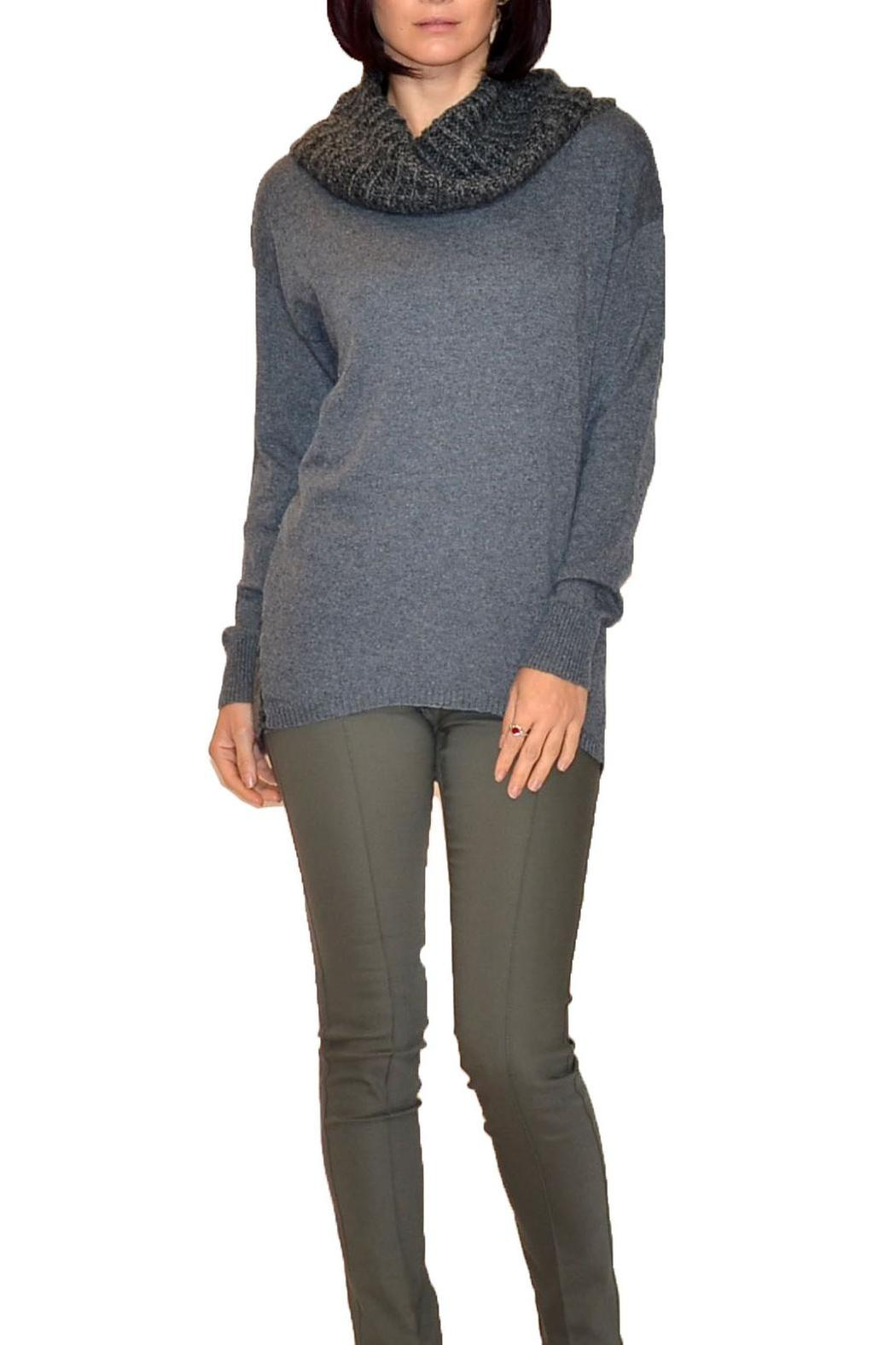 D&K Grey Cowl-Neck Sweater from Santa Monica by Estell Boutique ...