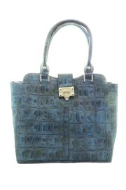d'Orcia Blue Croc Bag - Product Mini Image