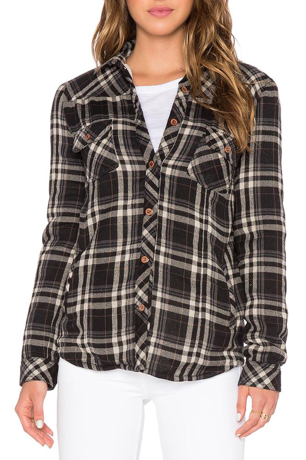 d.RA Fleece Lined Button-Up - Front Full Image