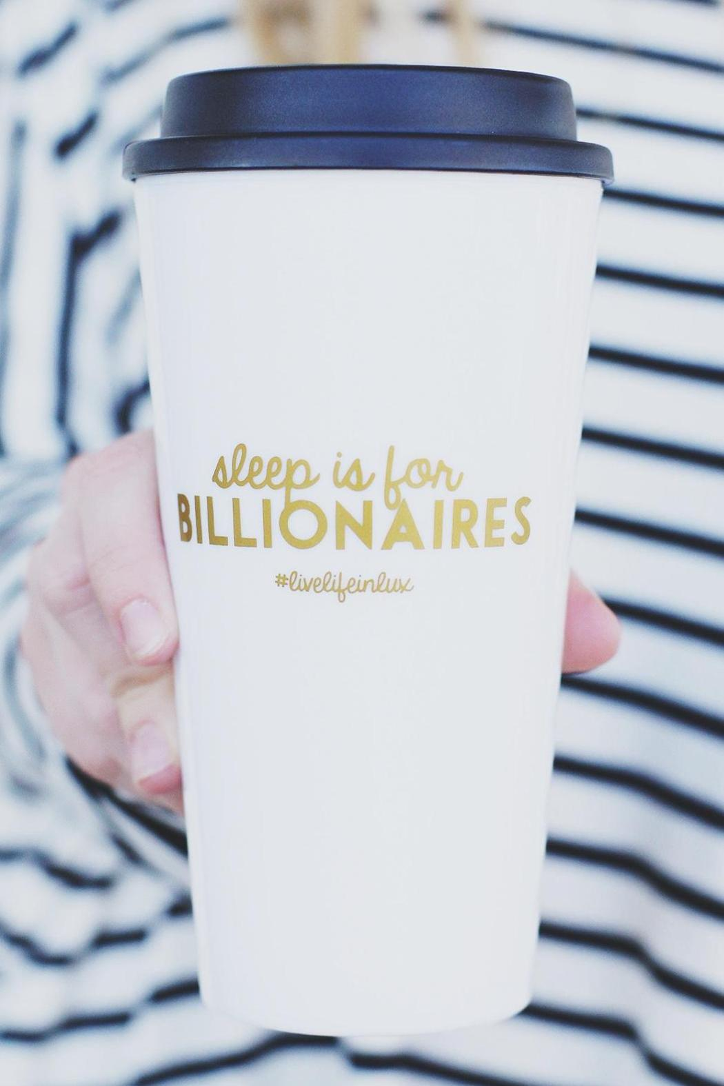 #Livelifeinlux Coffee Tumbler - Front Cropped Image