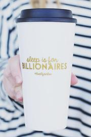 #Livelifeinlux Coffee Tumbler - Front cropped