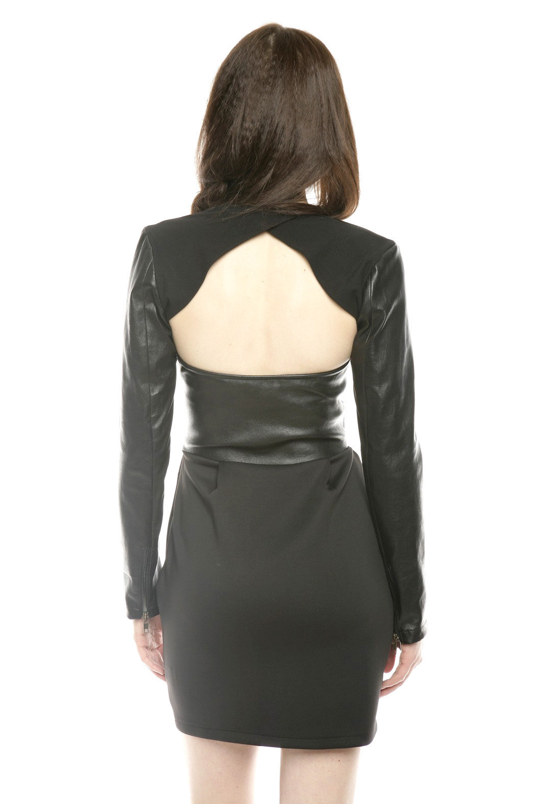 Lyudviga Couture Leather Sleeves - Back Cropped Image
