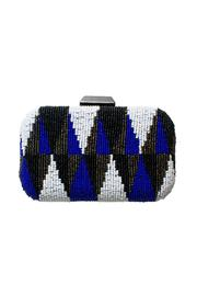 Brilliant-Blue Beaded Clutch - Product Mini Image