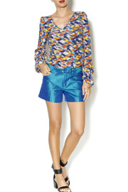 By Smith Soho Teal Shorts - Front full body