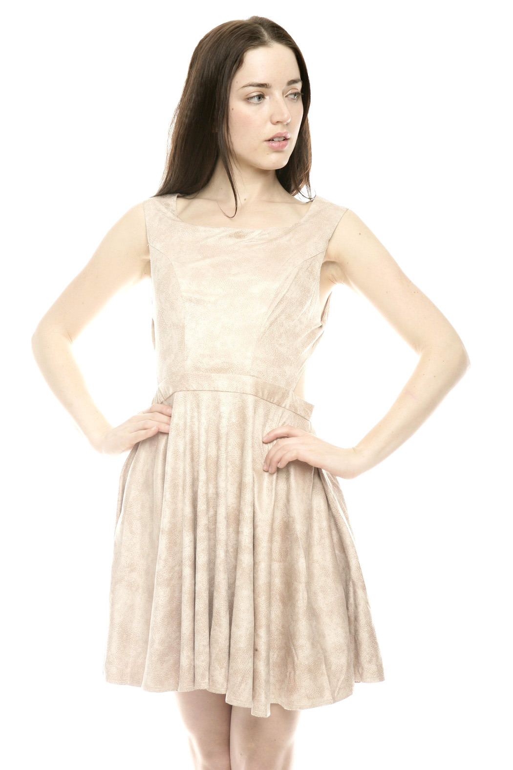 The Clothing Co BabyDoll Faux Leather Dress - Main Image