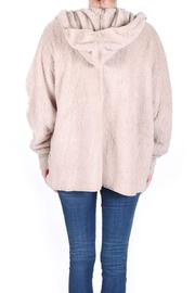 Honey Punch Fuzzy Hooded Jacket - Back cropped