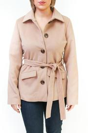 Tulle Belted Camel Coat - Product Mini Image