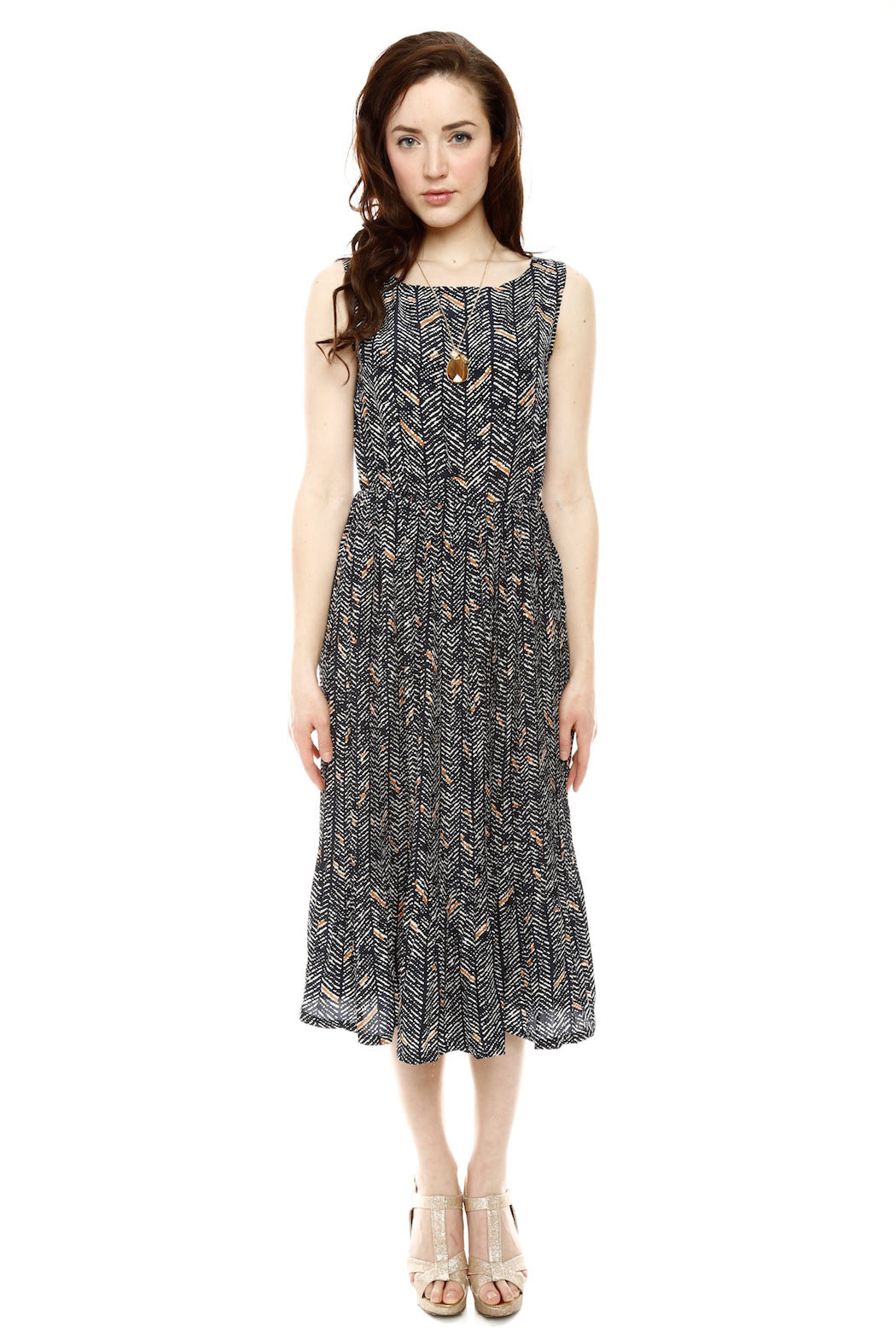 Bukky Toto Pleat Maxi Dress - Front Cropped Image