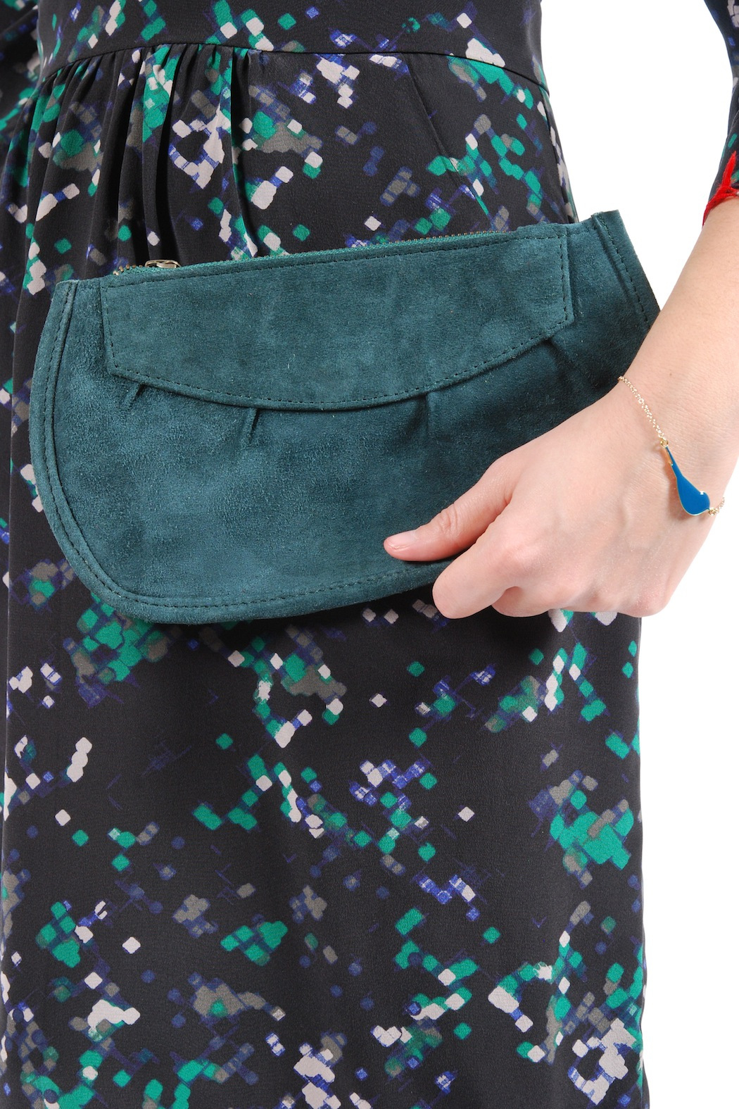 Pampa & Pop Zippered Leather Purse - Front Full Image