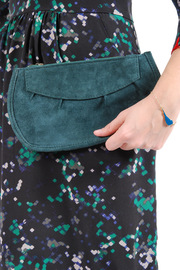 Pampa & Pop Zippered Leather Purse - Front full body