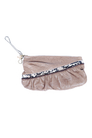 Shoptiques Product: Python and Leather Clutch