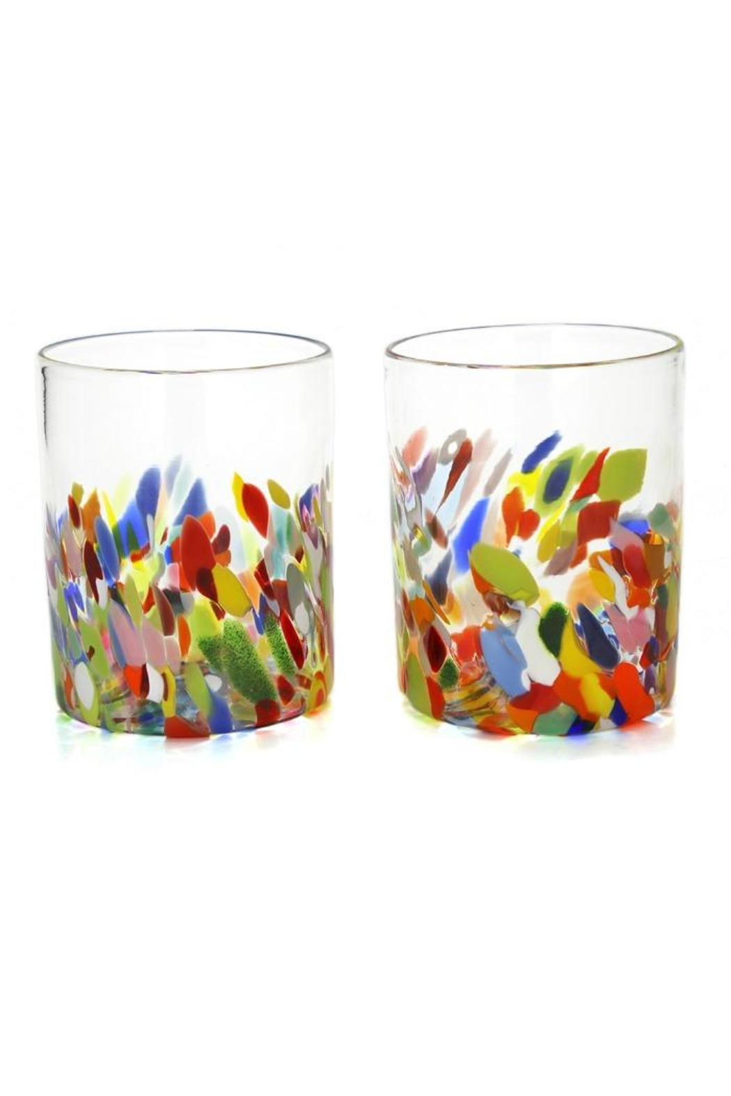 Multi-Colored Glass Tumblers - Front Cropped Image