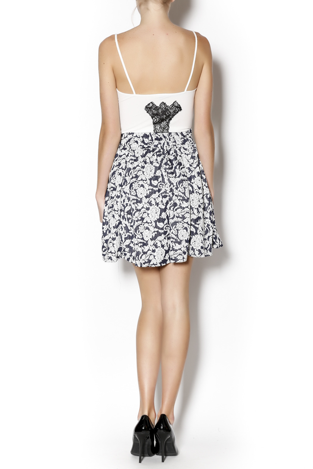 Angie Floral Swing Skirt - Side Cropped Image