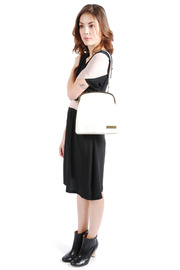 Tammy & Benjamin Single Clasp Leather Bag - Back cropped
