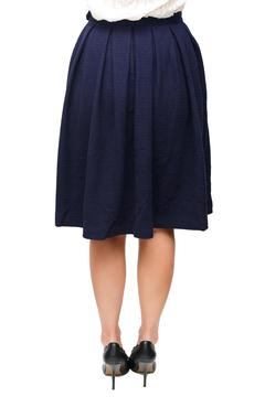 Shoptiques Product: Navy Pleated Skirt