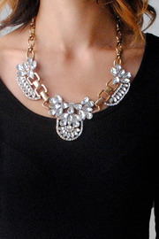 Shoptiques Product: Crystal Filigree Necklace