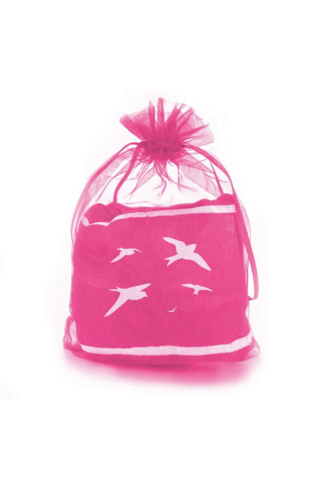 Winky Designs Pink Birds Scarf - Front Full Image