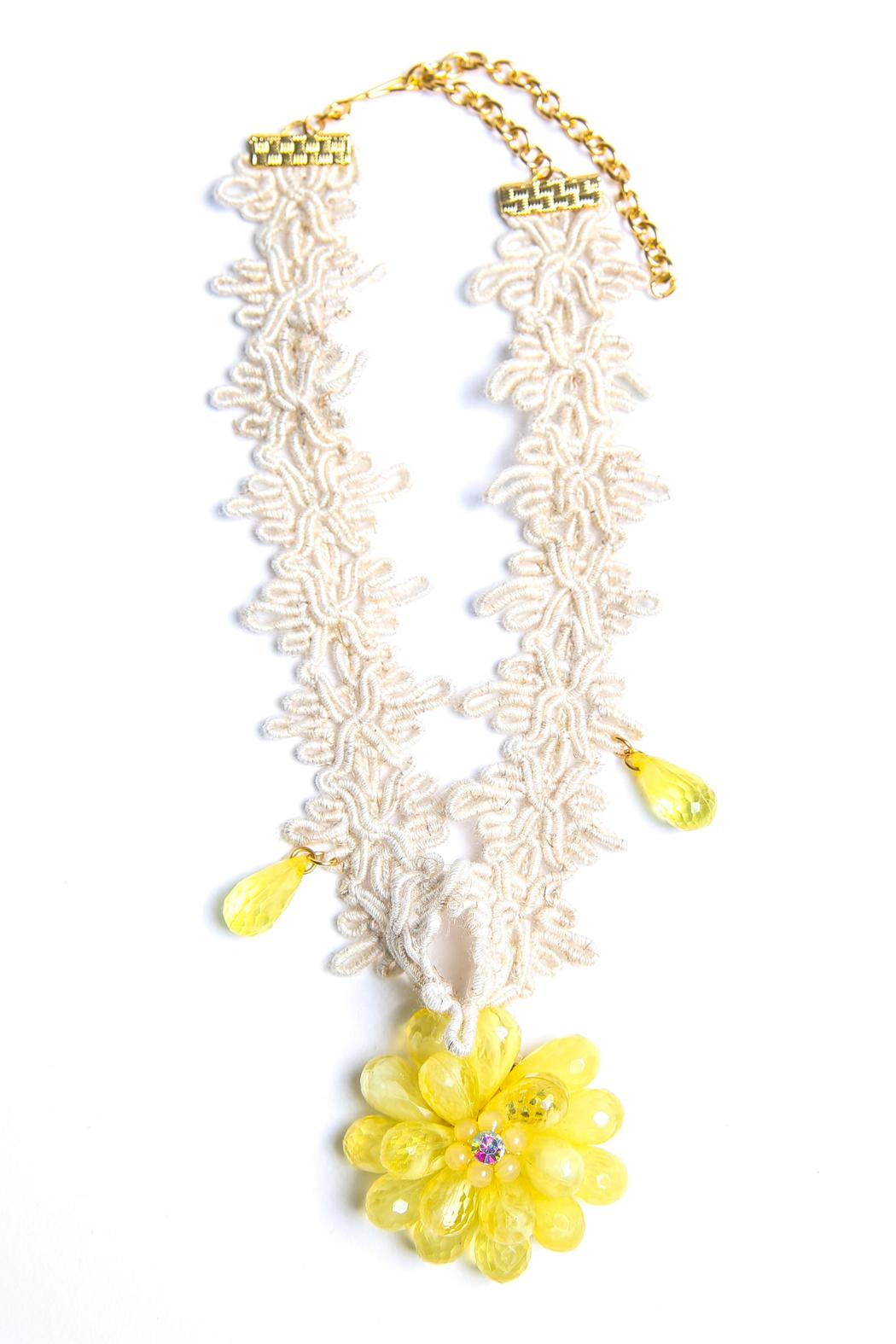 Design by Ameilie Yellow Floral Choker - Main Image