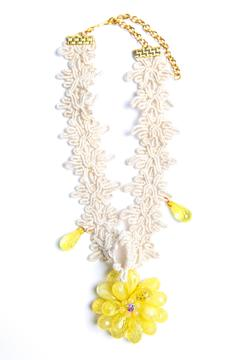 Design by Ameilie Yellow Floral Choker - Product List Image