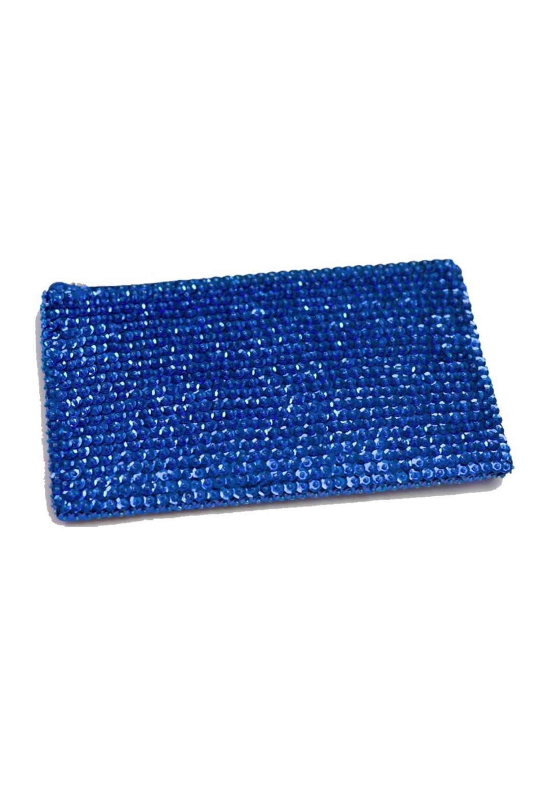 tu-anh Electric Blue Clutch - Front Cropped Image