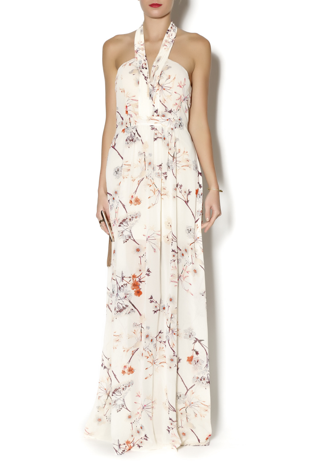 Ark & Co. Floral Halter Maxi - Main Image