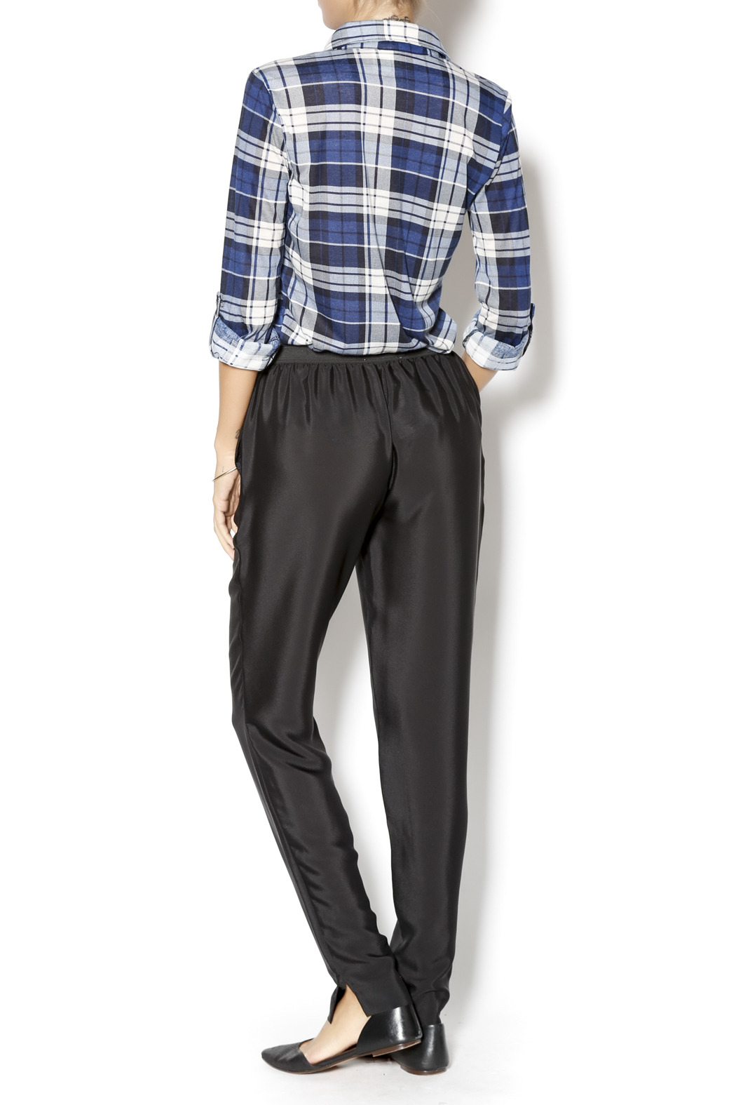 BCBGeneration Woven Sportswear Pant - Side Cropped Image