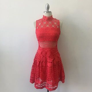 Shoptiques Red Lace Mini Dress