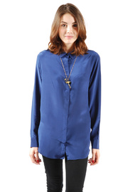 Shoptiques Product: Hidden-Button Silk Shirt