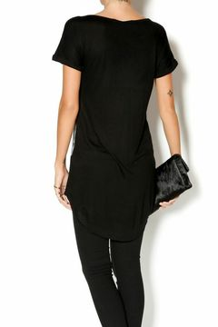 Shoptiques Product: Embroidered Black Top