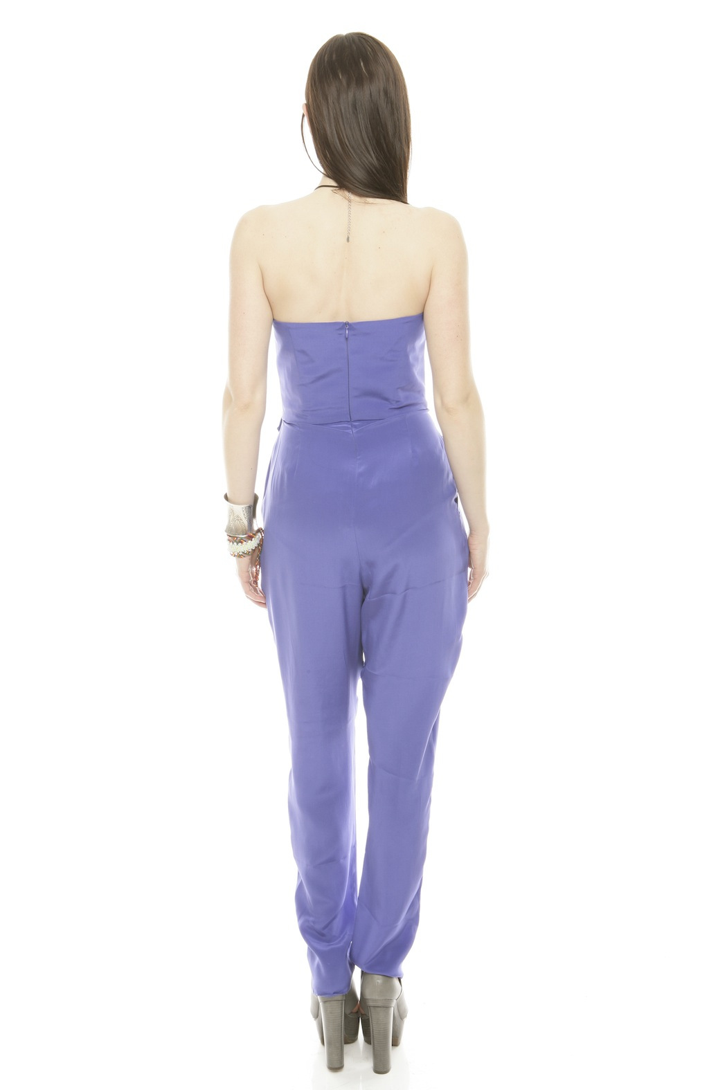Zimmerman Strapless Prism Jumpsuit - Back Cropped Image