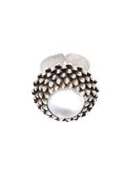 Shoptiques Product: Silver Antiqued Thistle Ring
