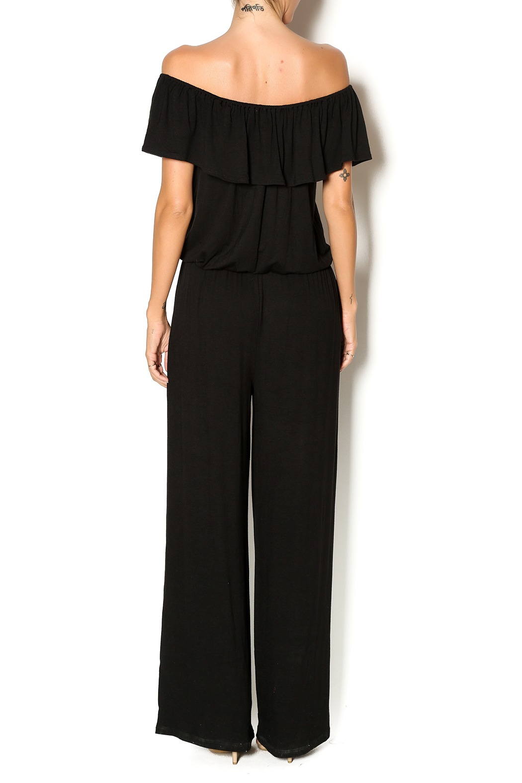Chatoyant  Off Shoulder Jumsuit - Back Cropped Image