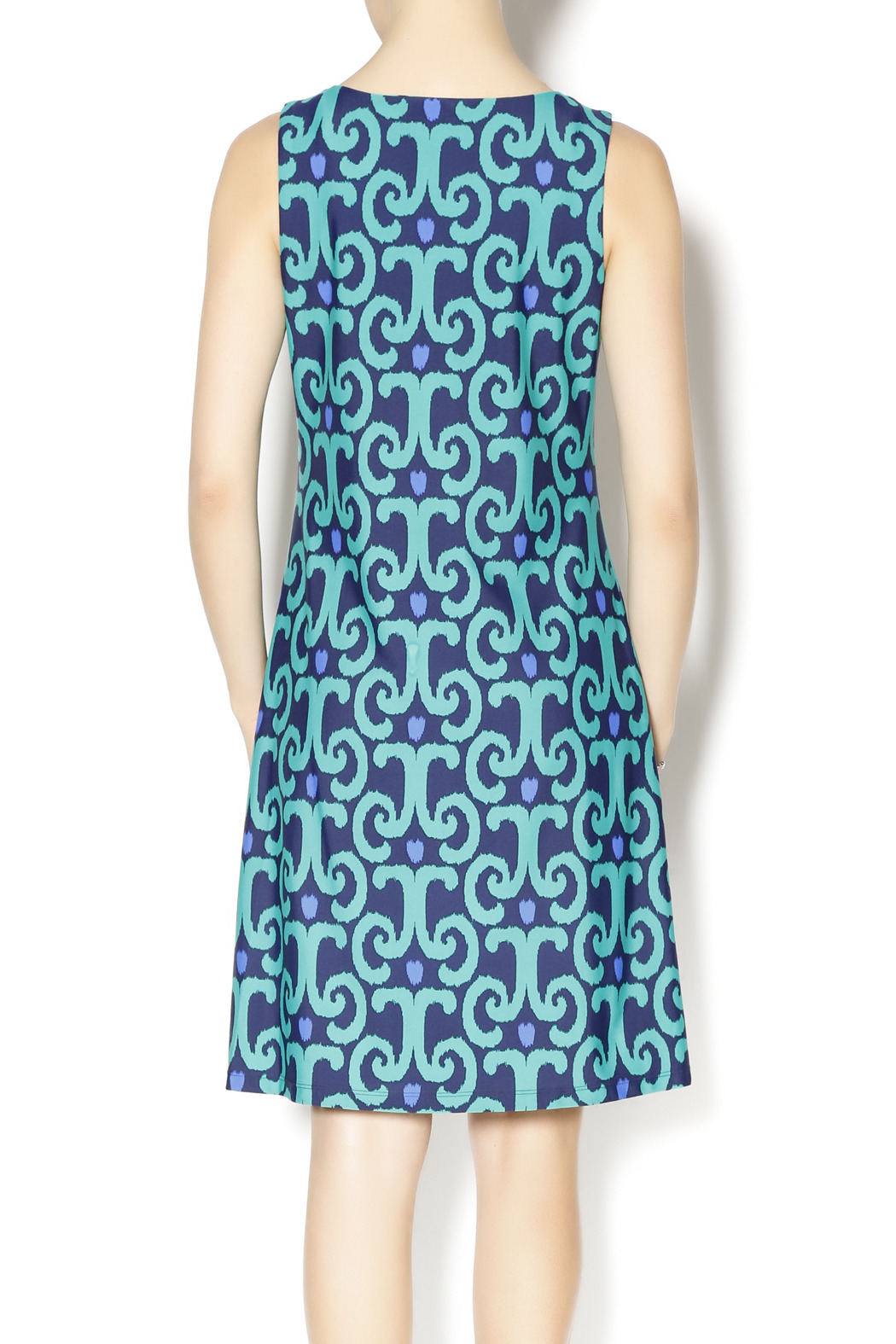Jude connally beth ikat dress from texas by christy39s for Ikat fabric dress