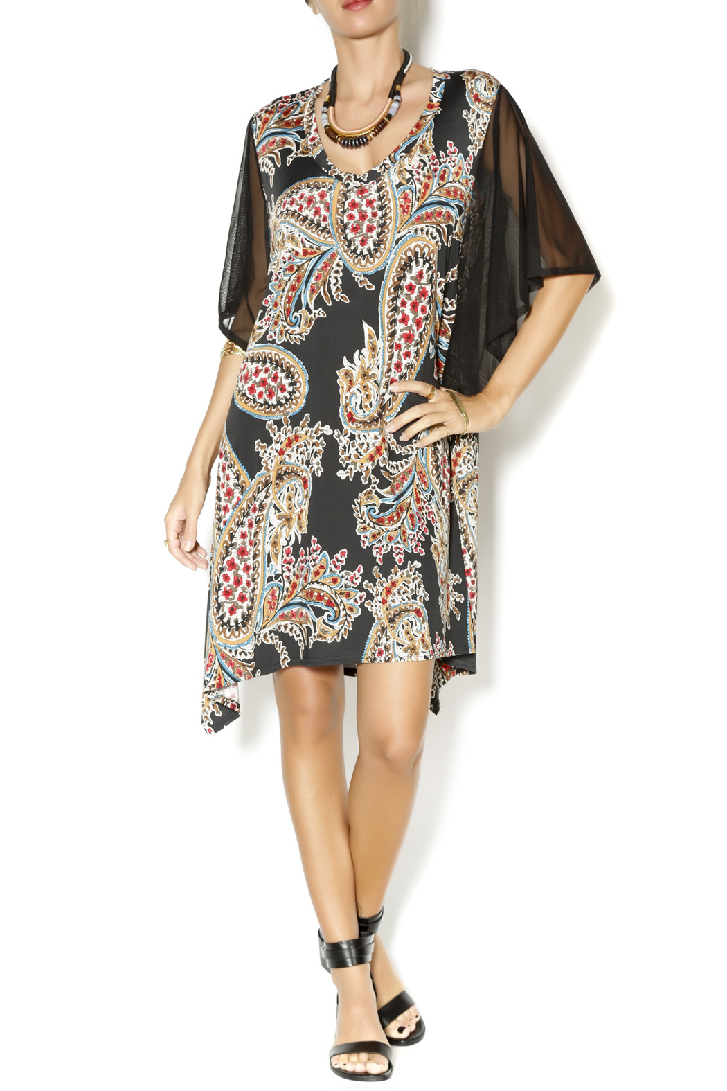 Uncle Frank Flutter Sleeve Dress - Front Full Image