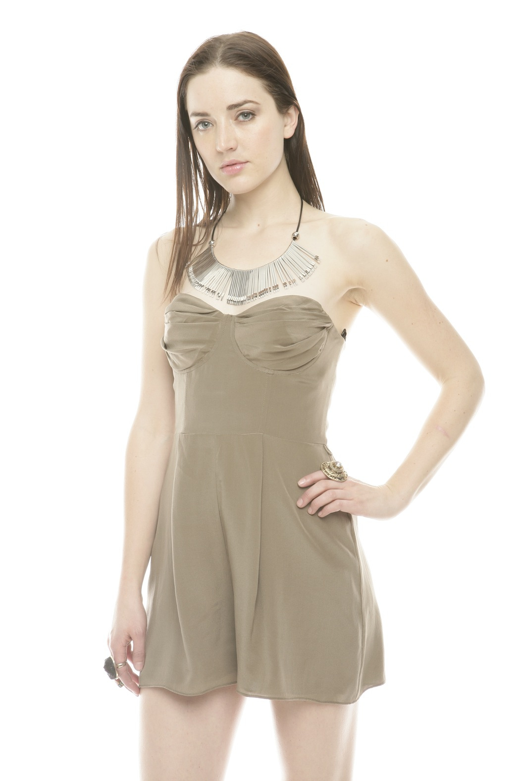 Zimmerman Silk Underwire Playsuit - Main Image