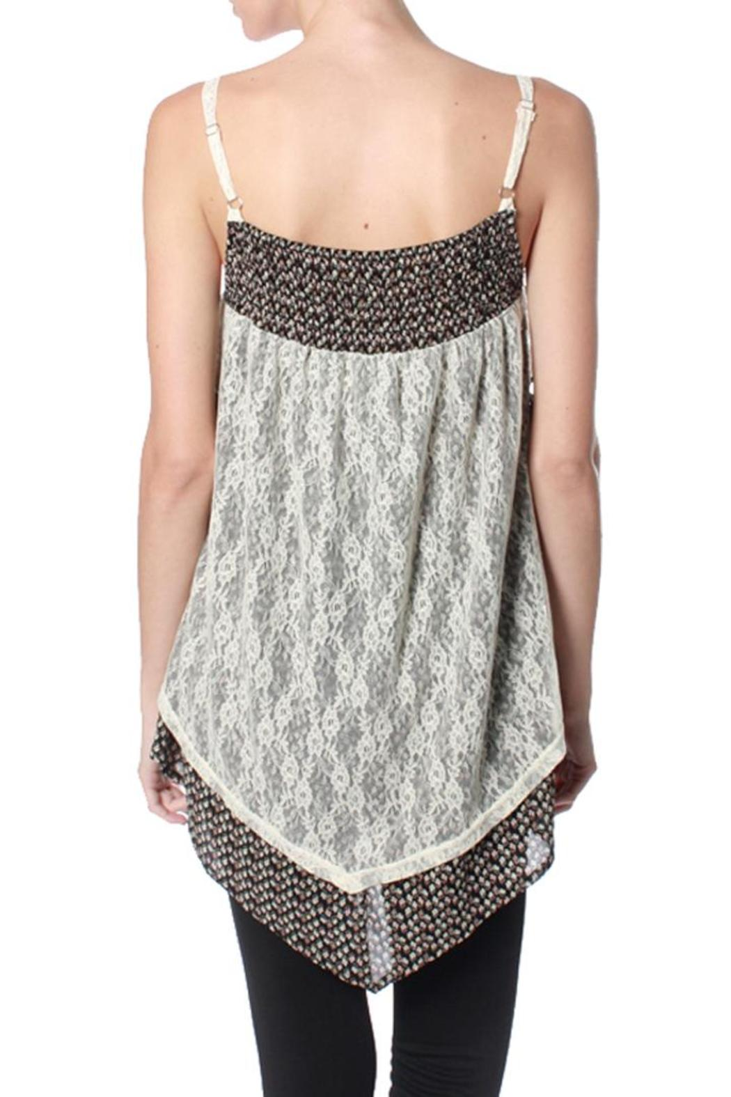 Ryu: Print Lace Cami - Front Full Image