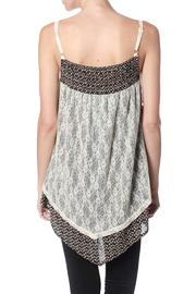 Ryu: Print Lace Cami - Front full body